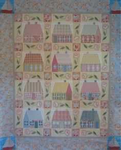 Quilt. Seaside cottages.  Pattern by Verna Mosquera. The Vintage Spool. I highly recommend her website.