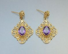 Fine Estate Jewelry Amethyst 14K Gold by LoriBilodeauAntiques