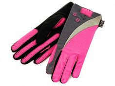 Pink and Grey sport horse riding gloves - great gift for women and teens!
