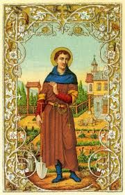 st fiacre -  patron saint of gardeners, especially those who grow vegetables. The vegetables he grew around his monastery were said to be superb. Shrine in Breuil