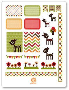 Oh Deer Decorating Kit / Weekly Spread Planner Stickers for Erin Condren Planner, Filofax, Plum Paper