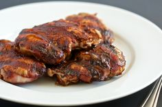 Bacon Wrapped Barbecued Chicken | GI 365  and barbecue sauce - this is more similar to a bullseye - Trent likes it