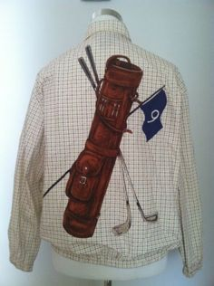 Ralph Lauren Polo Sport Plaid Pwing Mens Coat Jacket With Golf Bag Size  Small Low Life 8b890da484157