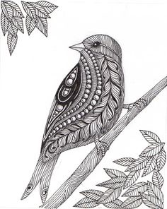 Loads of Zentangle animals for you to draw inspiration from, and then make your own. Including links for animal outlines and zentangle pattern ideas. Doodle Art Drawing, Zentangle Drawings, Doodles Zentangles, Mandala Drawing, Bird Drawings, Art Drawings Sketches, Zentangle Art Ideas, Design Art Drawing, Zentangle Animal