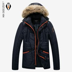 Men Winter Down Jackets Hooded Thick Solid Fashion Patchwork Warm Coat Ultra Light Duck Parka Big Sizes Overcoat