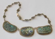 Ancient Roman Glass necklace. Wow!