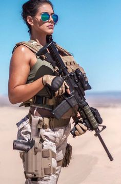 Deadly military women also deserve to fight for their country just like men. Woman have served in the military in greater number than before. Military services all open for both gender. N Girls, Girls In Love, Army Girls, Military Girl, Military Fashion, Military Style, Women Poster, Female Soldier, Warrior Girl