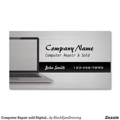 Construction excavatingbusiness card templates excavating business computer repair sold digital silver business cards wajeb Image collections