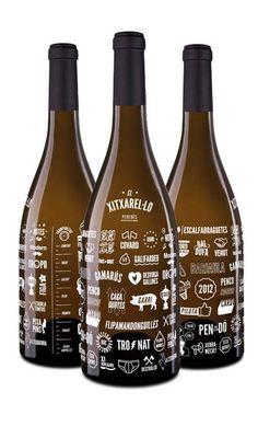 El Xitxarel·lo (Albert Virgili, 2012): a wine bottle full of rude words in Catalan. Cellar Martí Serdà