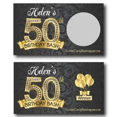 Scratch Off Cards at Custom Candy Bar Wrapper. Your source for personalized scratch offs, cards, tickets, stickers and scratch off birthday cards. Scratch Off Tickets, Scratch Off Cards, Birthday Bash, Birthday Celebration, Birthday Cards, Make Color, Color Change, Fun Games, Games To Play