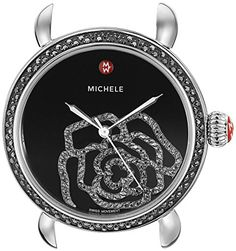 MICHELE Women's MW03T02K2017 CSX Analog Display Swiss Quartz Silver Watch Head ** Continue to the product at the image link.