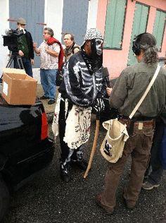 Skull & Bone gang member on Mardi Gras morning - BackStreet Cultural Museum - Treme/Lafitte