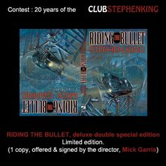 Let's not forget that Mick Garris himself, is giving us a signed copy of this double deluxe special edition of RIDING THE BULLET for the #StephenKingContest