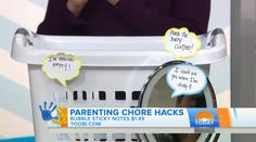"Stickie notes ""from"" objects around the house help remind kids about chores and responsibilities 
