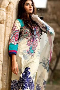 Go Bright with Latest Summer Lawn Collection 2013 by Sana Safinaz and i have this!!!