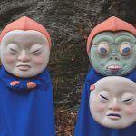 Gargantuan Felt Masks of Beautifully Disturbing Characters by Paolo Del Toro