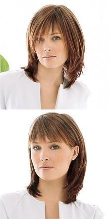 Frisuren Love this one The perfect wedding hairstyle for this summer For you lucky girls about to ge Medium Hair Cuts, Short Hair Cuts, Medium Hair Styles, Curly Hair Styles, Haircut Medium, Hairstyles With Bangs, Pretty Hairstyles, Haircuts, Shoulder Length Hair