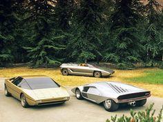 3x Gandini @ Bertone: Lamborghini Bravo   Lamborghini Athon   Lancial Stratos Zero