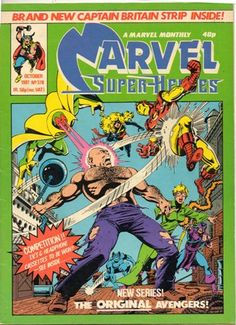 Captain Britain and Jackdaw face the Junkheap monster, and realize there's something very wrong with the world. Comics Uk, Marvel Comics, The Original Avengers, Janet Van Dyne, Iron Man Tony Stark, Marvel Women, Marvel Comic Books, Silver Surfer, Scarlet Witch