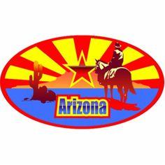 Arizona Flag Photo Cutouts