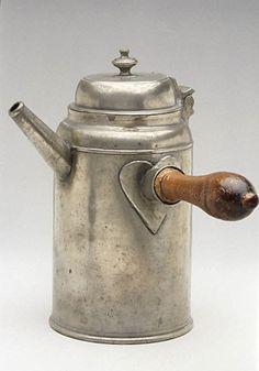 Old Pewter Coffee Pot (with a heart!) By Freidrich Gottfried Herrmann . 1783–1813