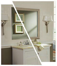 Portage Pebbled White    mirrormate.com
