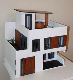 Pimpin…now THAT'S a barbie house! Barbie Furniture, Dollhouse Furniture, Casas Containers, Barbie Doll House, Modern Dollhouse, Victorian Dollhouse, Dollhouse Dolls, Miniature Houses, Miniature Dolls