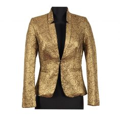 Sacou stofa brocard auriu -colectia 2013 La Femme un produs import Franta #sacoudamaauriu #sacouelegant