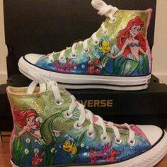 69601e8b026b94 The little mermaid converse Cool Converse