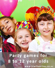 A Fun collection of party games for 8 to 12 year olds - Kiwi Families