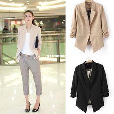 Wholesale Fashion Women's Slim One Button Asymmetric Tunic Folded Sleeves BLAZER Jacket Suit Outwear Coat  L0, $28.63/Piece   DHgate