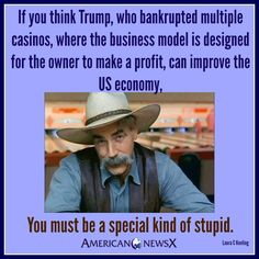 If you think 45 can improve the economy.....
