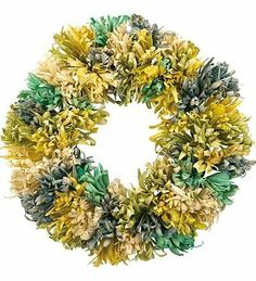 "Pastel Corn Husk Wreath by Wind & Weather®. $14.99. Corn Husk Wreath. Beautiful door décor. Soft greens, blues and golds bring to mind the splendor of springtime. 20"" dia.. Our natural Corn Husk Wreath highlights the transition from winter to spring with rustic, old-fashioned charm. Add soft pastel greens, blues and golds and rich texture to your home's décor when you place this luxuriant accent on door or mantel."