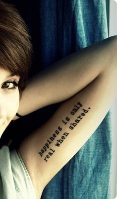 Into the wild quote tatoo!