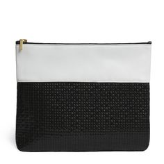 CHAYE CLUTCH in White and Basketweave
