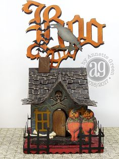 What an incredibly fun weekend I had creating this Whimsical Haunted Village. I think I used every Tim Holtz /Sizzix Halloween die I own, ...