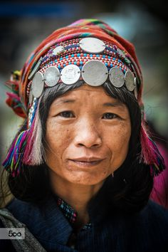 Akha woman by Jeff Perigois on 500px,Portrait of an Akha woman in Phongsaly province, Laos