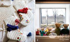 Beoseon(korean traditional socks) for kids and hanbok teddy bears #hanbok #teddybear