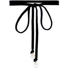 Joomi Lim 'Victorian Romance' Swarovski pearl wraparound velvet choker... (1.125 CZK) ❤ liked on Polyvore featuring jewelry, necklaces, accessories, chokers, black, wrap around choker necklace, pearl tie necklace, bow tie necklace, bow choker necklace and velvet choker