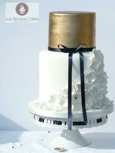 On trend wedding cake. New design for 2015 from Just Because CaKes. Cakes inspired by fashion.