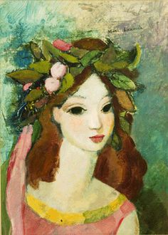 The vibrant oil on portrait of a girl by Marie Laurencin sold for $9,795