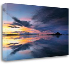 Tangletown Fine Art 'Lake Myvatn Reflections' by Andy Mumford Graphic Art on Wrapped Canvas