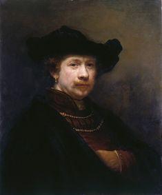 Rembrandt van Rijn, Self-Portrait in a Flat Cap, 1642 - 'El retrato del artista' en la colección real británica - 20minutos.es