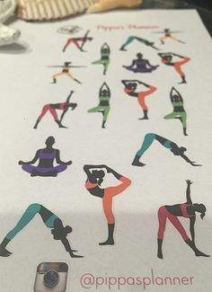 Yoga Poses Planner Stickers  Erin Condren  MAMBI Happy Planner by PippasPlanner on Etsy