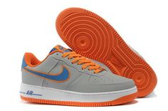 Olimpics Nike Air Force 1 Grey Orange Embroidery Air Force Shoes 722ef378613