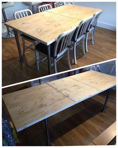 Extending Handmade Rustic Industrial Scaffold Board Plank Dining Table Boardroom   eBay Industrial House, Rustic Industrial, Scaffold Boards, Scaffolding, Plank, Furniture Ideas, Kitchen Ideas, Dining Table, Handmade