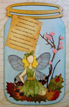 Fairy in a Jar-Prima doll on chipboard, May 2016 by CMandMJewelry.deviantart.com on @DeviantArt