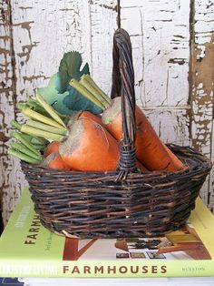 Carrots in a basket  Walnut & Vine
