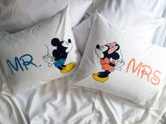 Mr and Mrs Pillowcases Custom Personalized Wife Husband Wedding Anniversary Newlywed gifts idea for Couple Mr and Mrs pillow Couples Gifts by CreativePillowLV on Etsy https://www.etsy.com/listing/234935610/mr-and-mrs-pillowcases-custom