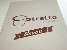 Stretto is a small coffee shop in a small village in Evia island Greece. We had already designed the logo of the shop and when they opened they asked for a menu.